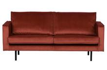 Sofa RODEO 2,5 seater velvet chestnut