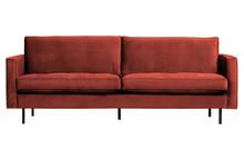 Sofa RODEO CLASSIC 2,5-seater velvet chestnut