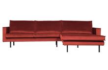 Sofa narożnik prawy RODEO LONGUE - velvet chestnut