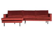 Sofa RODEO LONGUE lewy narożnik Velvet chestnut