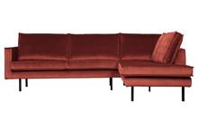 Sofa narożnik prawy RODEO - Velvet chestnut