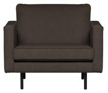 Fotel RODEO - ciepły szary/brązowy