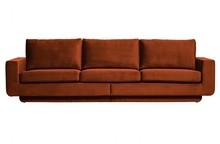 Sofa 3-osobowa FAME aksamit rdzawy