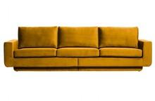 Sofa 3-osobowa FAME aksamit ochry