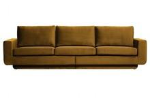 Sofa 3-osobowa FAME aksamit miodowy żółty