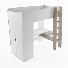 Łóżko piętrowe z materacem TOM TM-01 - biały/congo