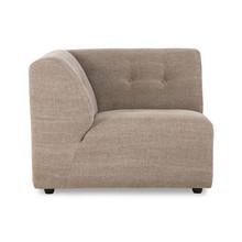 vint couch: element left, linen blend, taupe