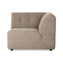 vint couch: element right, linen blend, taupe