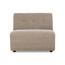 vint couch: element middle, linen blend, taupe