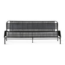 woven outdoor lounge sofa black