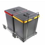 Sortownik Na Śmieci Podwójny ECOFIL PF01 34B2 2x18L  Wymiary: - wysokość 36 cm - szerokość 30 cm - głębokość 45 cm.  Wyposażony jest w 2...