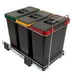 Sortownik Na Śmieci Potrójny ECOFIL PF01 34B4 3x12L  Wymiary: - wysokość 36 cm - szerokość 30 cm - głębokość 45 cm.  Wyposażony jest w 3...