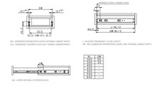 Prowadnice do szuflad Prowadnica PK10 kulkowa TITAN hamulec/push to open dł. 60 cm, udźwig 35 kg H=45 mm - Gamet
