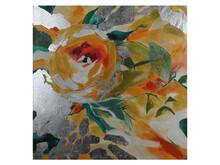 Obraz nowoczesny kwiaty JWE0743 120x120 cm