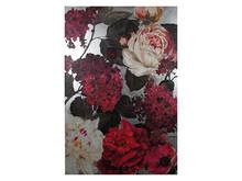 Obraz okraszony srebrem KWH7966 150x225 cm - różowe kwiaty
