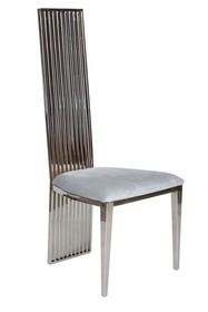 Krzesło stalowe CY6179 53x49x120 cm - szary