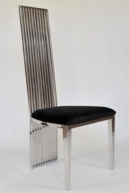 Krzesło stalowe CY6179 53x49x120 cm - czarny
