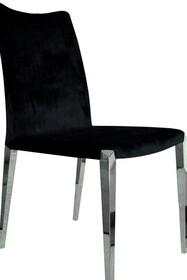 Krzesło welurowe CY6132B - czarny
