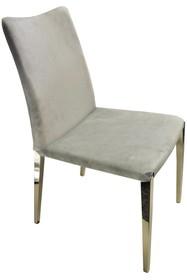 Krzesło welurowe CY6132B - szary