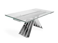 Stół rozkładany szklany blat CT2307 180/250x90x75 cm