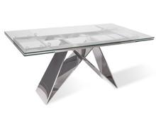 Stół rozkładany szklany blat CT2306 160/200x90x75 cm
