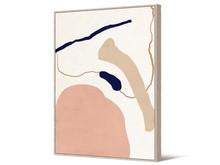 Obraz abstrakcja TOIR22752 102x142 cm - pudrowy