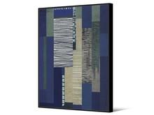 Obraz abstrakcyjny TOIR22439 102x142 cm - niebieski