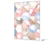 Obraz heksagony TOIG22818 104x144 cm - pastelowy
