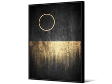 Obraz z kołem TOIR22817 102x142 cm - czarno-złoty