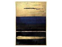Obraz abstrakcja TOIR22617 - niebiesko-złoty