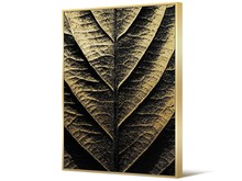 Obraz liść TOIR22761 102x142 cm - złoto-czarny