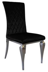 Krzesło welurowe FT190-1 - czarny