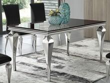 Stół szklany blat TH951 150x90x75 cm - czarny