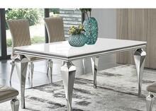 Stół szklany blat TH951 150x90x75 cm - biały
