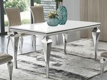 Stół szklany blat TH951-1 200x100x75 cm - biały