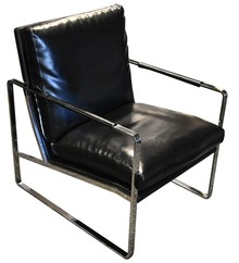 Fotel elegancki Y-1010 - czarny