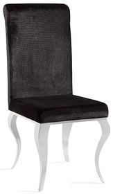 Krzesło welurowe FT25 - czarny