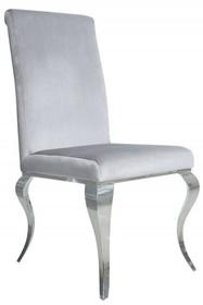 Krzesło welurowe FT25 - srebrny