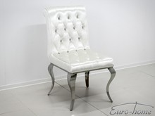 Krzesło welurowe pikowane FT174 - biały