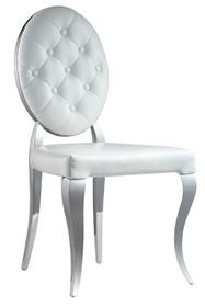 Krzesło welurowe z pikowanym oparciem FT83H - srebrny