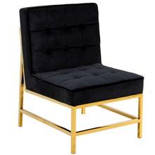 Fotel FC41 75x68x95 cm - złoto-czarny