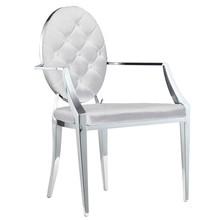 Krzesło welurowe z podłokietnikami FT83 - srebrny