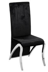 Krzesło wysokie welurowe FT171 - czarny