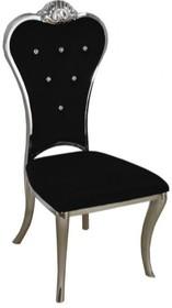 Krzesło z pikowanym oparciem B379 - czarny