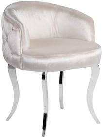 Fotel welurowy pikowany FC39 - biały