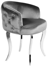 Fotel welurowy pikowany FC39 - grafitowy