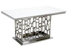 Stół stalowy TH522-1 200x100 - biały