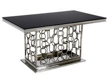 Stół stalowy TH522-1 200x100 - czarny
