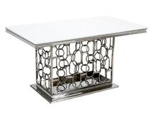 Stół stalowy TH522 150x90 - biały