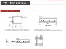 Prowadnice do szuflad Prowadnica kulkowa PK09 z hamulcem h=45mm udżwig 35 kg dł. 550 mm - Gamet